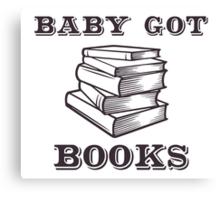 Baby Got Books Canvas Print