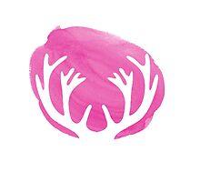 Pink stag antlers by MariondeLauzun