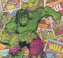 Vintage Comic Hulk by Daveseedhouse