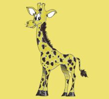 Cartoon Giraffe by Rachel Counts