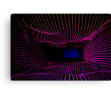 Purple and Blue Abstract Light Painting Canvas Print