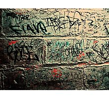 Words on the wall  Photographic Print