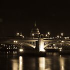 Southwark Bridge - London by James Hughes