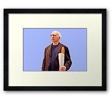 Larry David Bread Framed Print