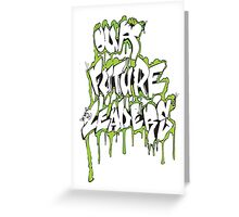 Our Future Leaders Graffiti Green Greeting Card