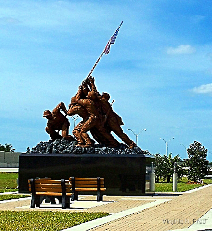 Iwo Jima statue  by Virginia N. Fred