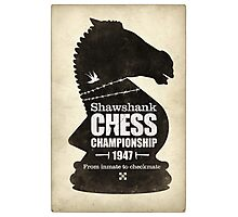 Shawshank Chess Comp Photographic Print