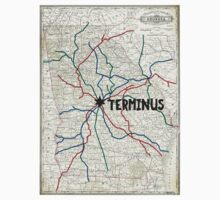 The Walking Dead - Terminus Map T-Shirt