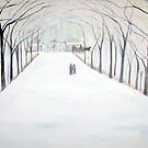 The  Silent Snowfall  Walk  /  Central  Park  NYC      by Rick  Todaro