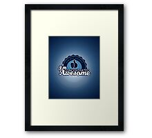 Concentrated Awesome Framed Print