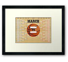 March Basketball Bracket Framed Print