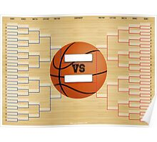March Basketball Bracket Poster