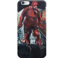 Man Without Fear - Red iPhone Case/Skin