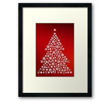 Snowflake Christmas Tree Framed Print