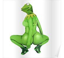 Kermit Anaconda Meme Poster