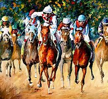 Horse Race — Buy Now Link - www.etsy.com/listing/223710437 by Leonid  Afremov
