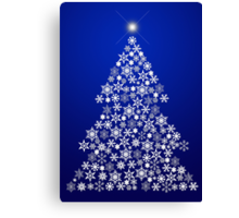 Snowflake Christmas Tree Canvas Print