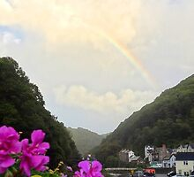 "UK: ""Rainbow Over Lynmouth"", Devon by Kelly Sutherland"