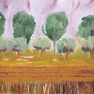 Autumn trees by Susan Brown