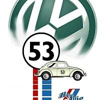Herbie 53 THE LOVE BUG CAR VW iphone cased by ALIANATOR