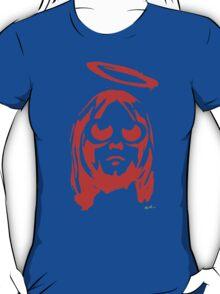 KURT COBAIN ARTWORK red T-Shirt