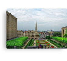 Mont des Arts, Brussels, Belgium Canvas Print