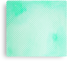 Green Mermaid Leggings Canvas Print