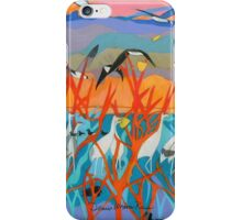 Nine Leaves in the Wind iPhone Case/Skin