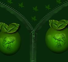 GREEN APPLES AND ART PICTURE. by ✿✿ Bonita ✿✿ ђєℓℓσ