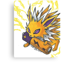 Jolteon Drawing Canvas Print