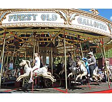 Who can resist a carousel ride? Photographic Print