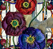 Glass Poppies by Linda Bassett