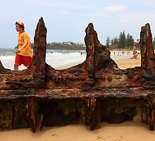 Lifeguard at Dicky Beach by Graham Lea