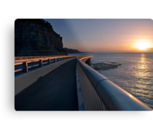 Seacliff Bridge at dawn, Thirroul NSW Australia Metal Print