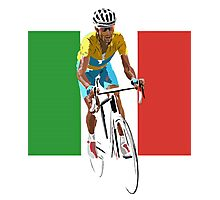 Maillot Jaune, Italy Flag 2 Photographic Print