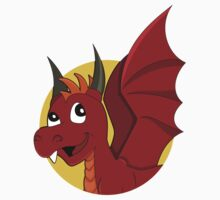Cute red dragon cartoon Kids Clothes