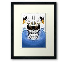 Swan skull Framed Print