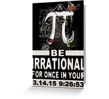 Swashbuckling Epic Pi Day Pirate Symbol Greeting Card