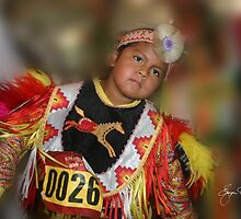 Young Boy at Pow Wow by Wayne King