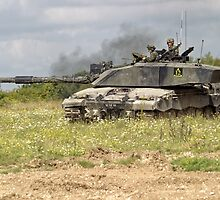 British Army Challenger 2 Main Battle Tank  by Andrew Harker