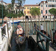 VENICE Gondolas by Paul Revell