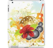Tropical party poster iPad Case/Skin