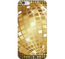 Golden disco ball iPhone Case/Skin