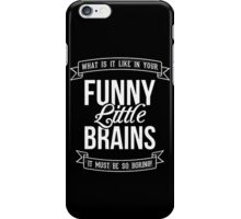 Sherlock Holmes Funny Little Brains iPhone Case/Skin