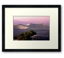 Sunset Dune Framed Print