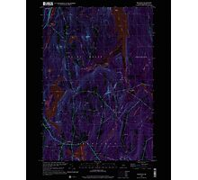 Maine USGS Historical Map Readfield 102912 2000 24000 Inversion Photographic Print