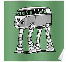 VW Bus AT-AT Imperial Walker Poster
