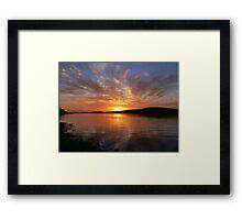 Ballyshannon Estury Sunset Framed Print