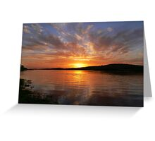 Ballyshannon Estury Sunset Greeting Card