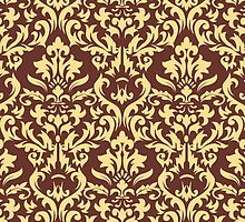 Vector damask seamless pattern background. Elegant luxury texture for wallpapers, backgrounds and page fill by NBeauty